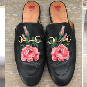 Gucci Princetown embroidered slipper